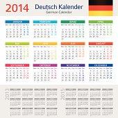 Vector illustration of German Сalendar for 2014 year