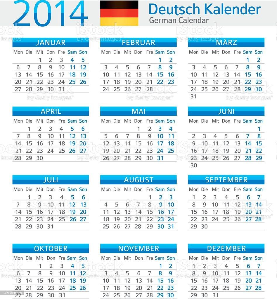 Met Art Calendar : German calendar deutsch kalender stock vector art