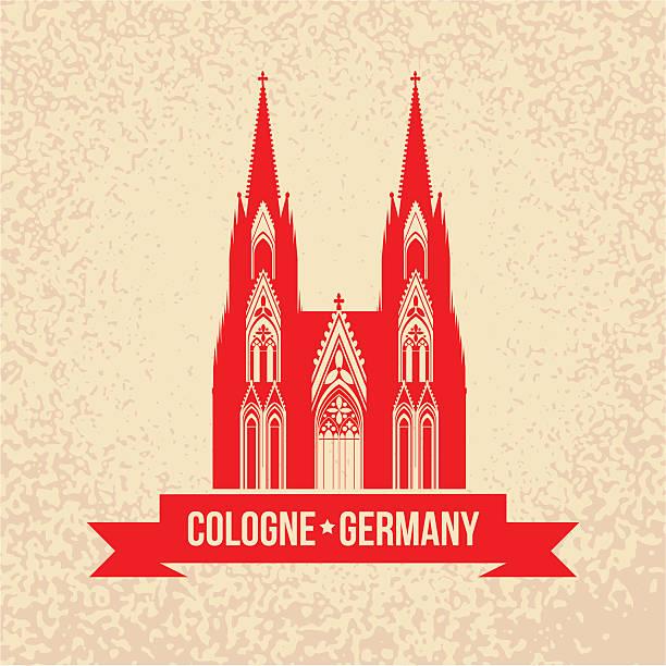 deutschen stadt köln-symbol. - köln stock-grafiken, -clipart, -cartoons und -symbole
