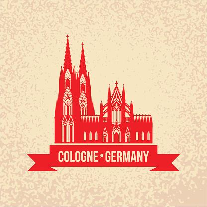German city Cologne travel symbol.