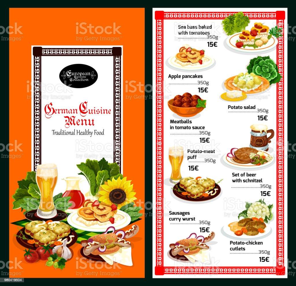 Ilustración de Diseño De Plantillas De Menú De Restaurante De Cocina ...