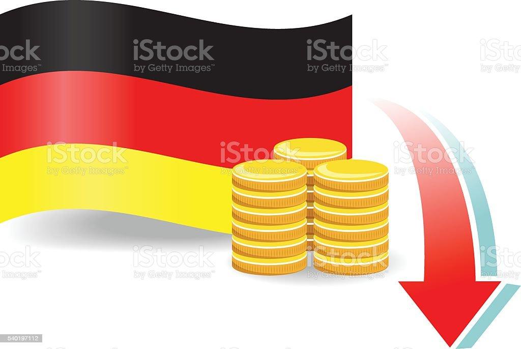 German Economic Problems Stock Vector Art More Images Of Arrow