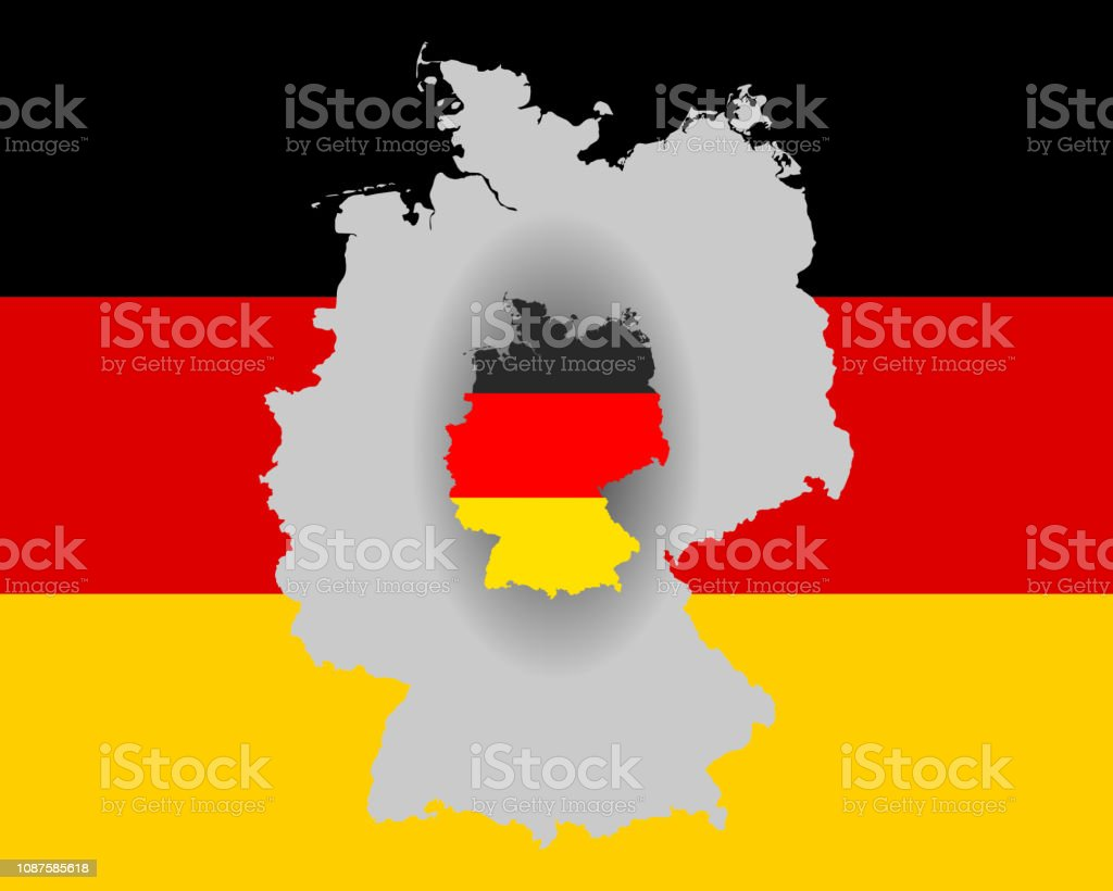 German Flag And Map Stock Illustration - Download Image Now ... on german flags of the world, germany map, state flags map, rhine river map, england map, german stereotypes, german world war 1 map, german state flags,