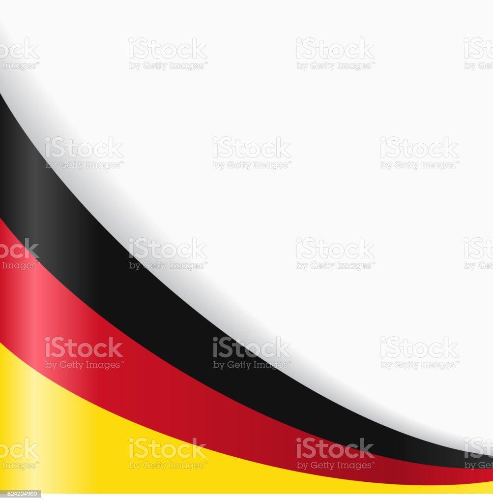 Fondo de bandera alemana. Ilustración de vectores. - ilustración de arte vectorial
