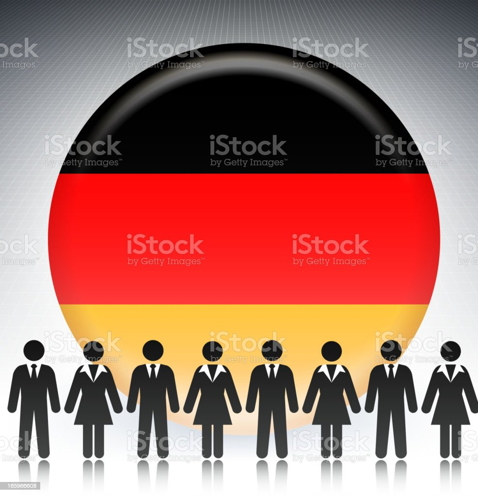German Flag Button with Business Concept Stick Figures royalty-free german flag button with business concept stick figures stock vector art & more images of achievement