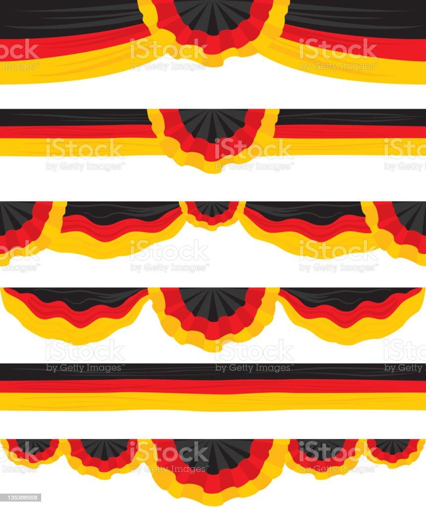 German Flag Design elements or Runners royalty-free stock vector art