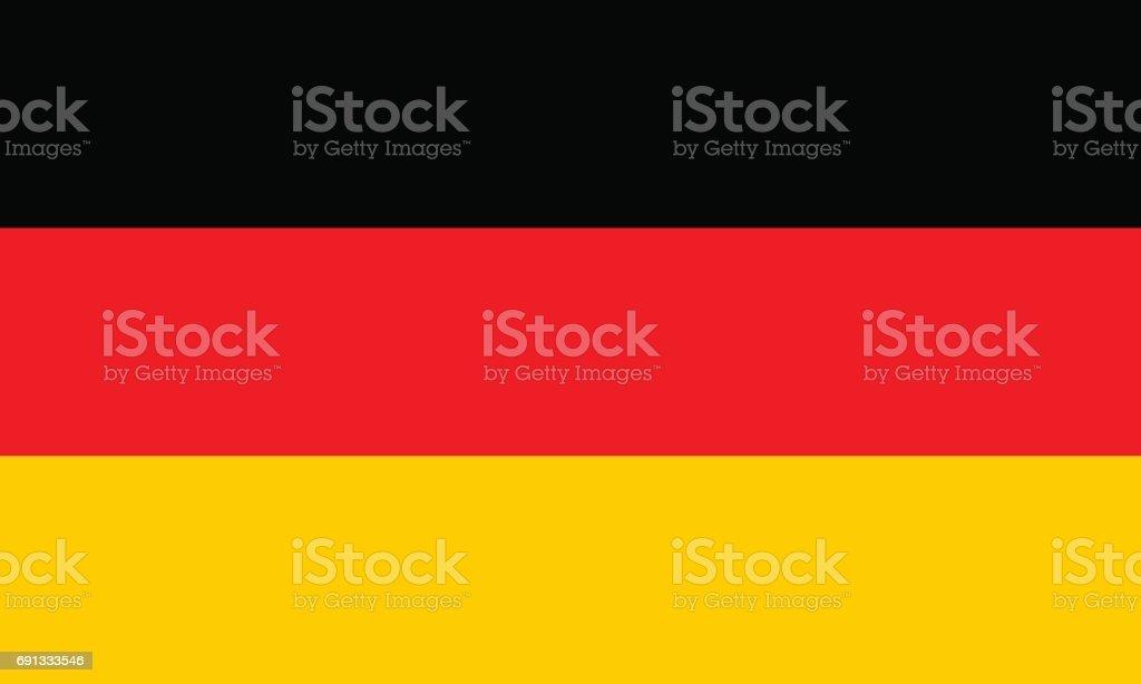 German flag, flat layout, vector illustration