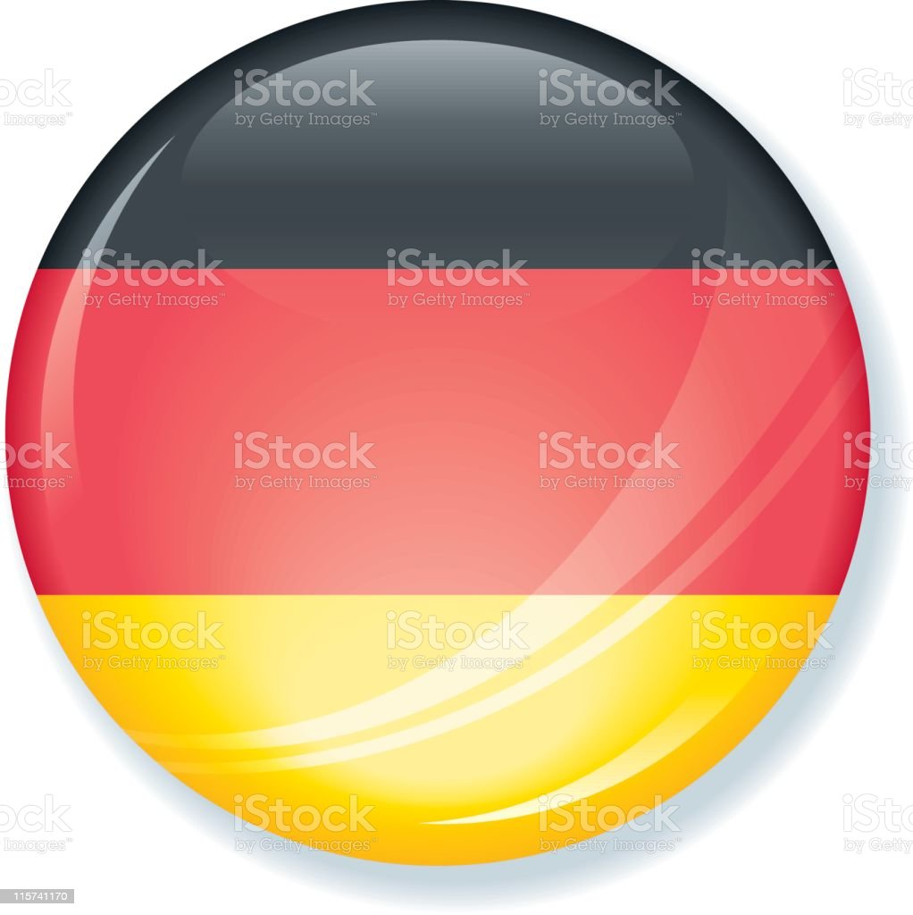 German Flag Super Glossy Button royalty-free stock vector art