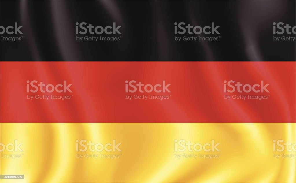 German Flag vector art illustration