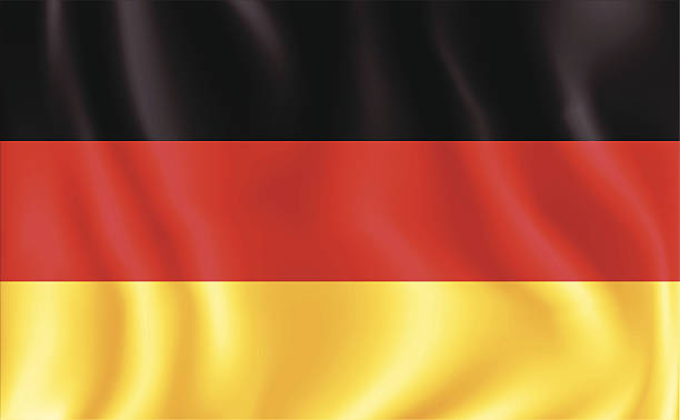 German Flag vector art illustration