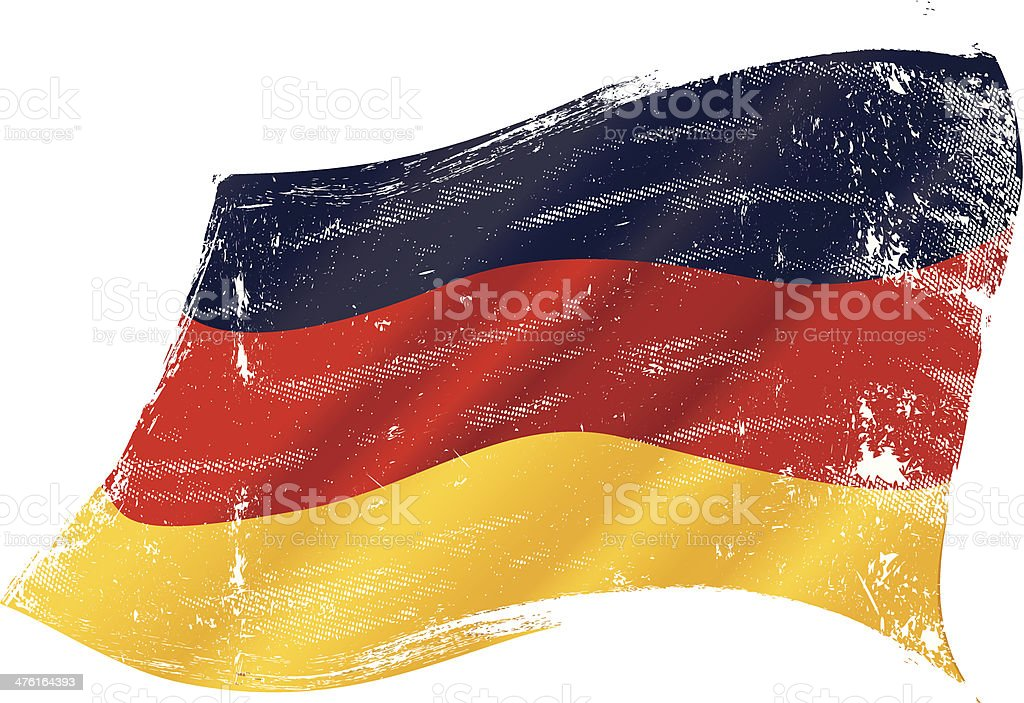 German grunge flag vector art illustration