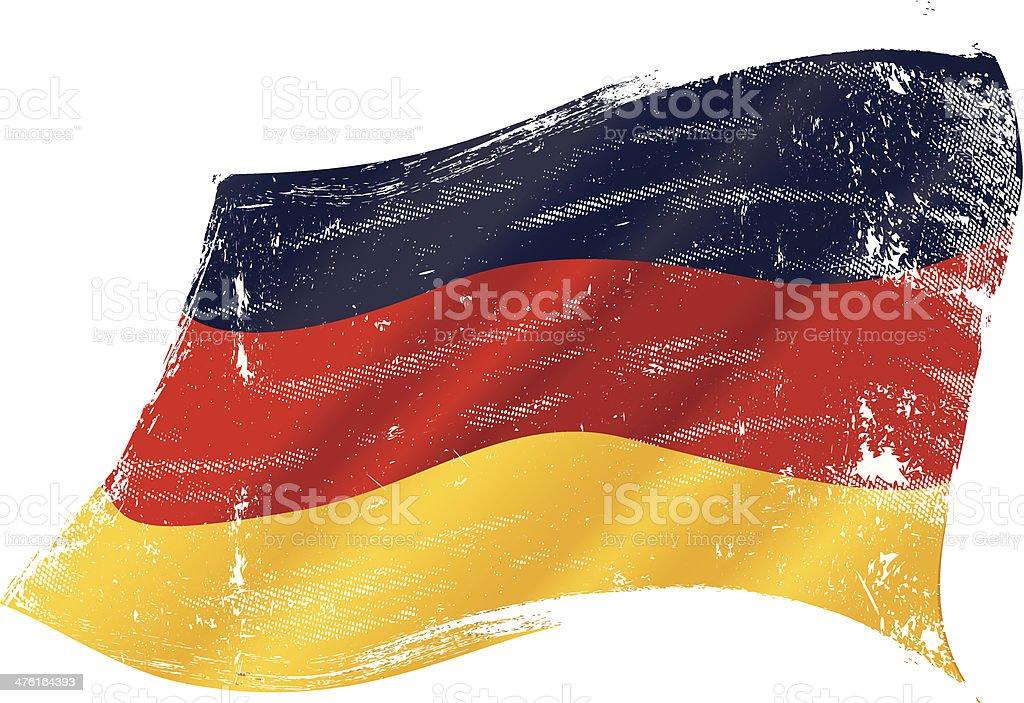 grunge de bandera alemana - ilustración de arte vectorial