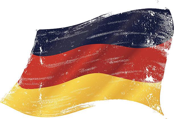 German grunge flag vector art illustration