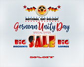 German national day holiday, sales and commercial events