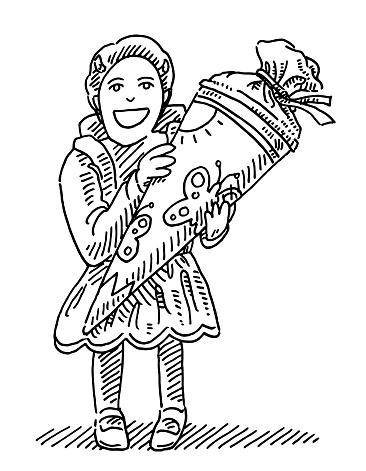 German Primary School Starter Cone Present Drawing