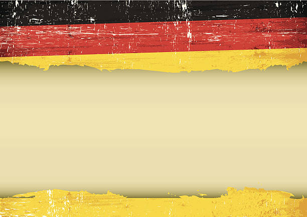German scratched flag vector art illustration