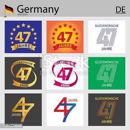 istock German set of number 47 templates 1264229568