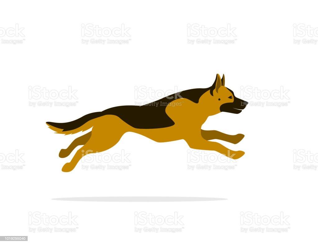 royalty free cartoon of german shepherd logo clip art vector images rh istockphoto com German Shepherd Silhouette German Shepherd Silhouette Clip Art