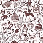 istock German Symbols Pattern in Hand Drawn Style 1152501344