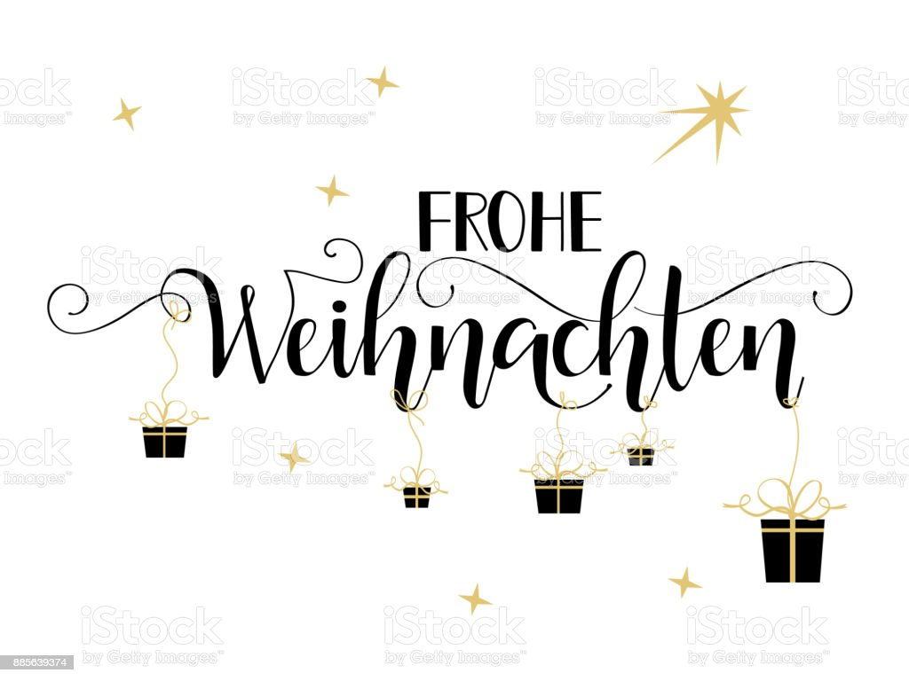 Almanca bir metnin Frohe Weihnachten: Neşeli Noel - Royalty-free Alman Kültürü Vector Art