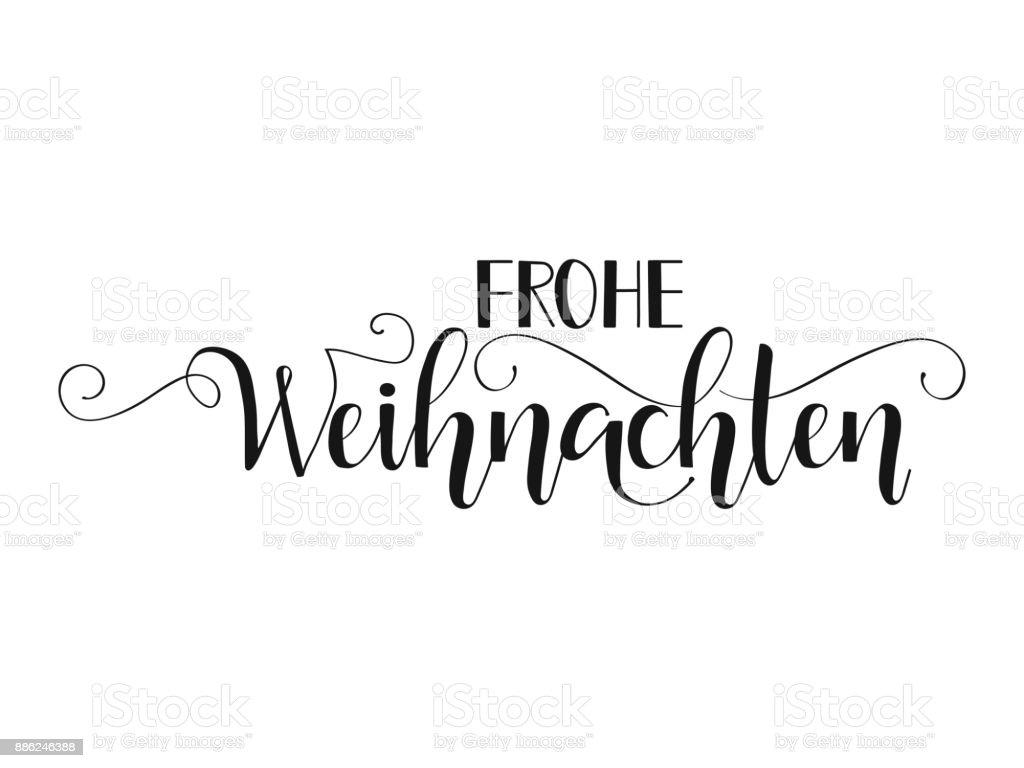Text Frohe Weihnachten.German Text Frohe Weihnachten Stock Illustration Download