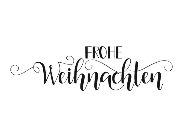 german text frohe weihnachten. - weihnachten stock illustrations