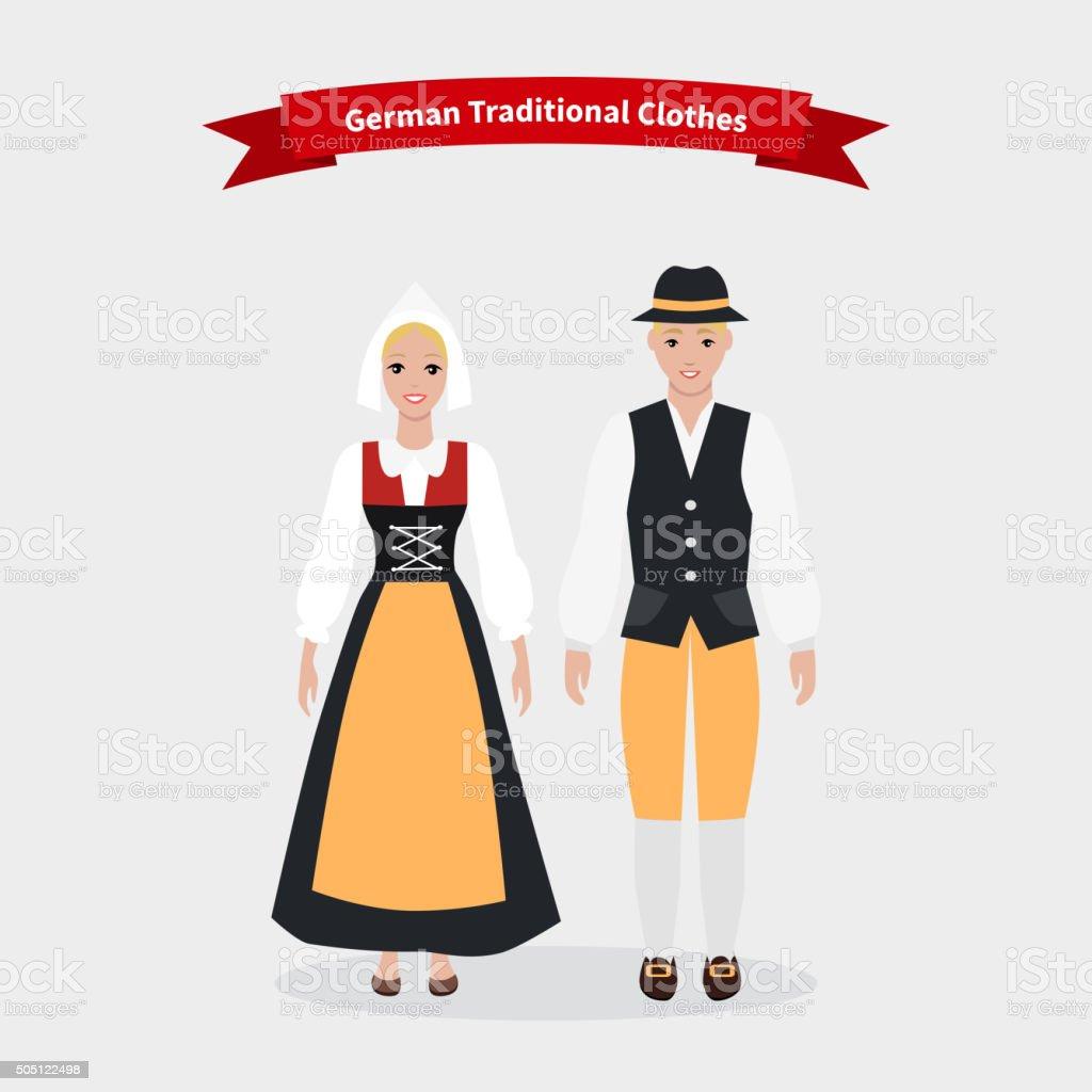 reputable site 3f673 13afe Deutsche Traditionelle Kleidung Personen Stock Vektor Art ...