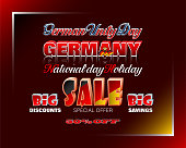 German unity day, sales and commercial events