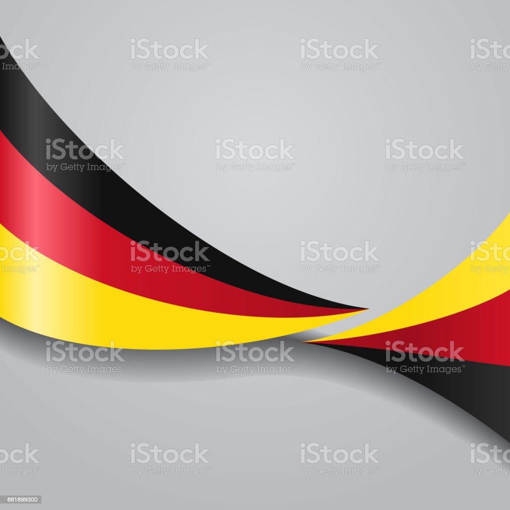 Deutsche Flagge gewellt. Vektor-Illustration. – Vektorgrafik