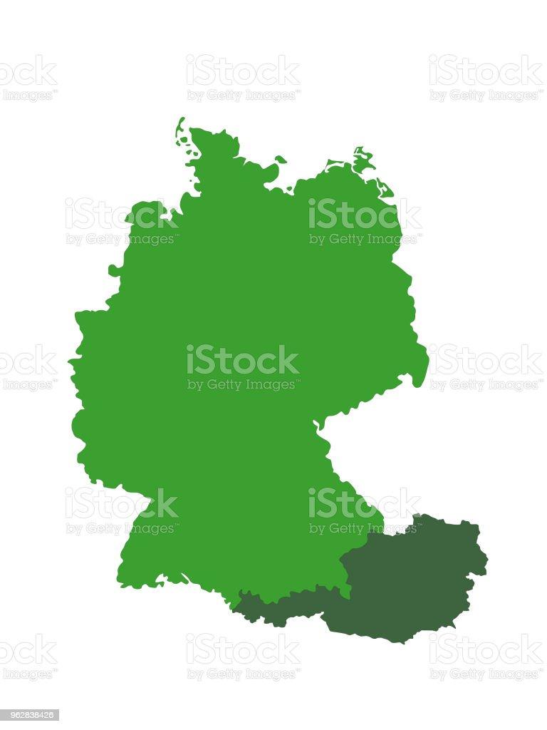 Karte Deutschland österreich.Deutschland Und österreich Karten Stock Vektor Art Und Mehr Bilder