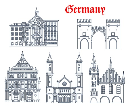 Germany architecture churches, Munich cathedrals