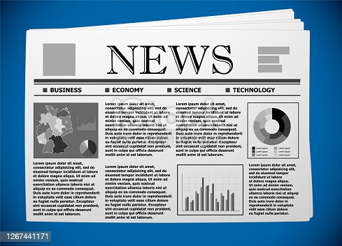 Germany business and economy on newspaper.