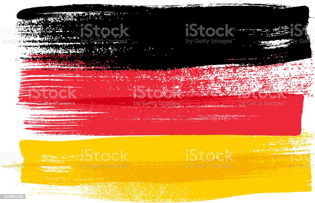 Germany colorful brush strokes painted flag vector art illustration