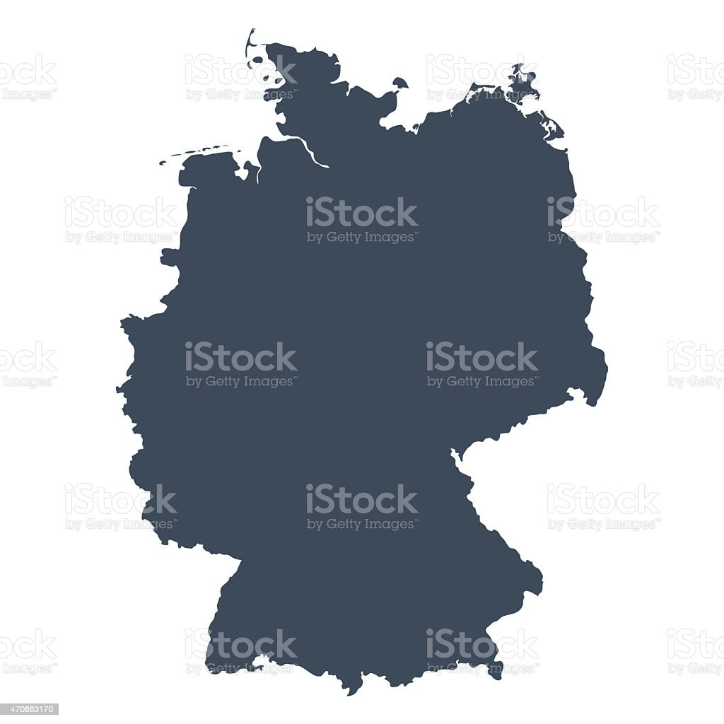 Germany country map vector art illustration