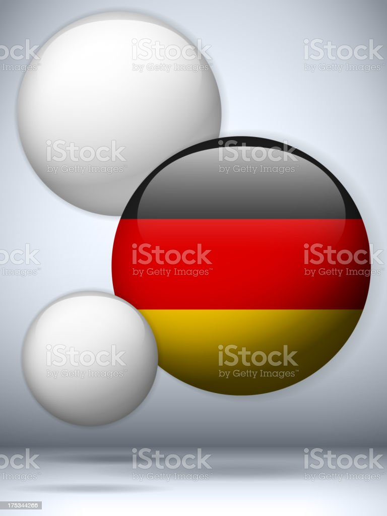 Germany Country Set of Bubbles royalty-free stock vector art