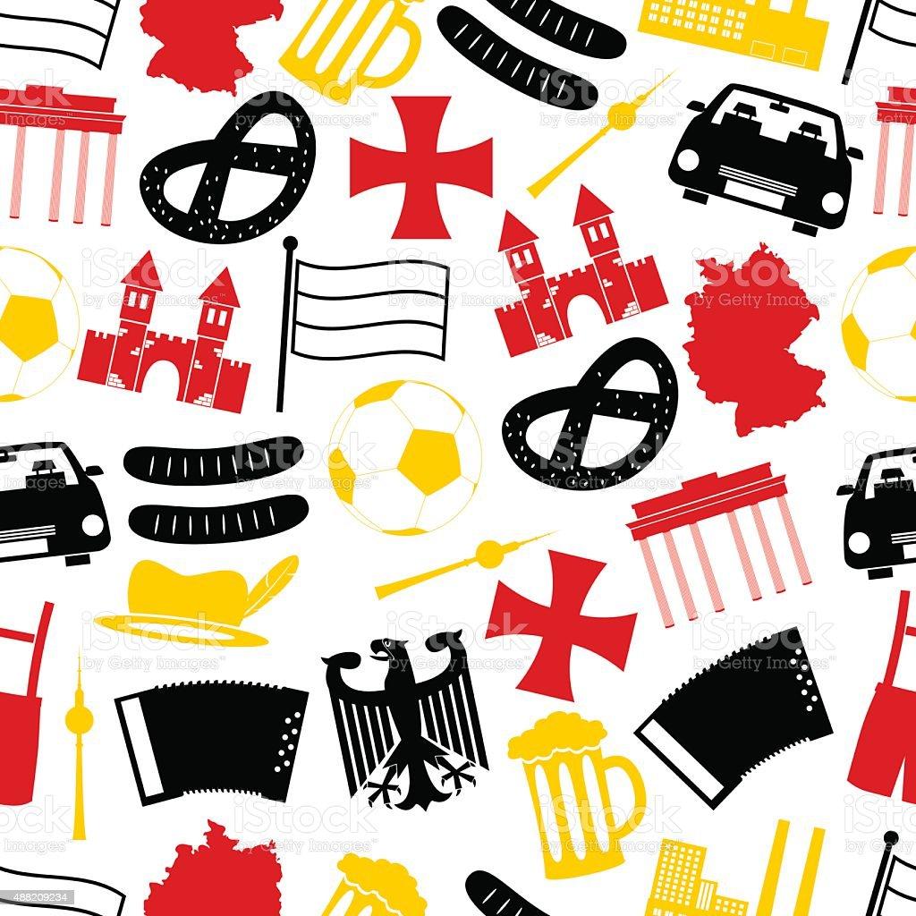 Ilustración de Alemania Del País Símbolos Patrón Sin Costuras Eps10 ...