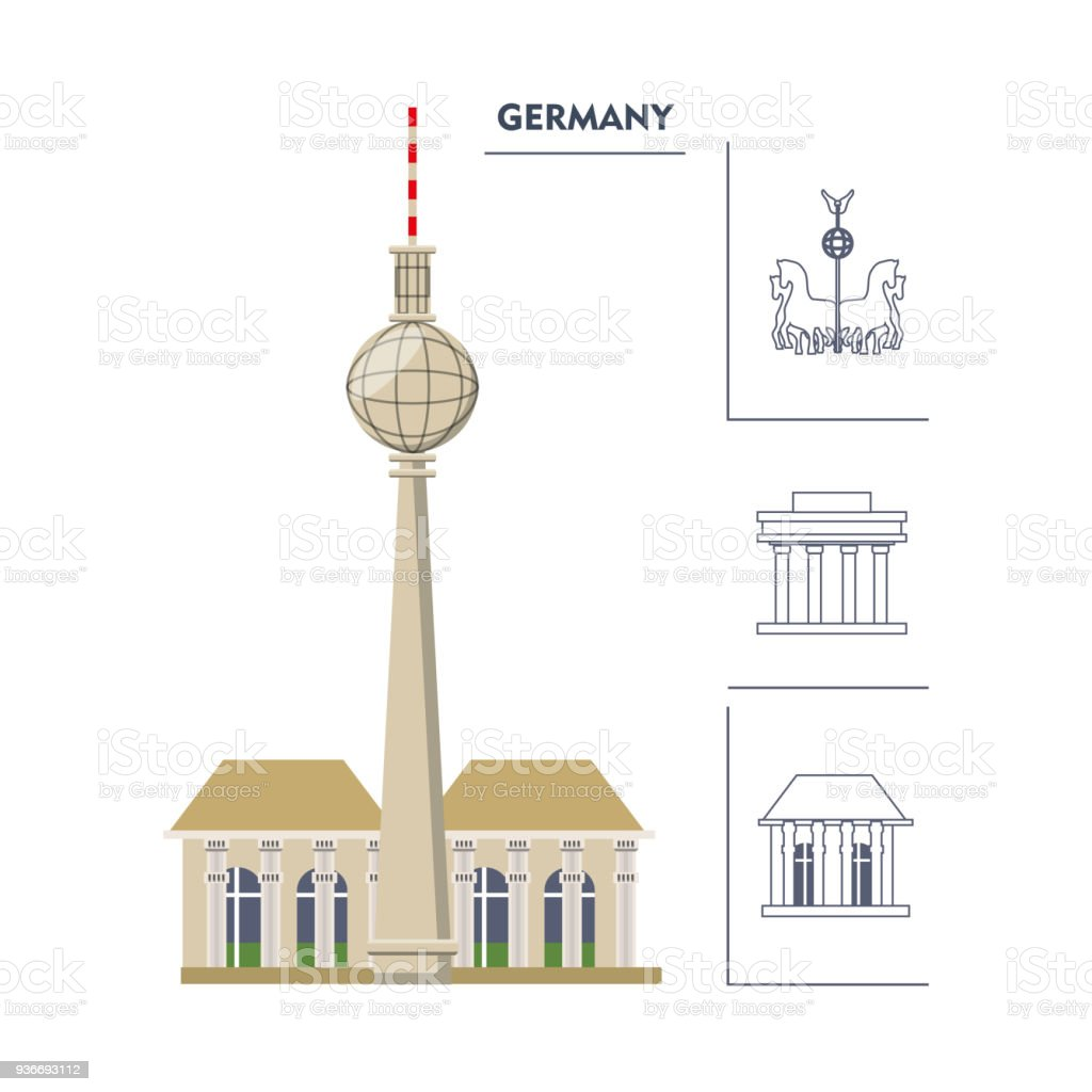 Deutschland-Design-Konzept – Vektorgrafik