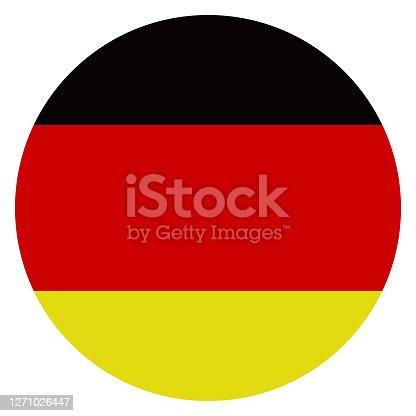 istock Germany- Deutschland - Round Flag Vector Flat Icon stock illustration stock illustration 1271026447