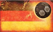Germany Flag and Old Football