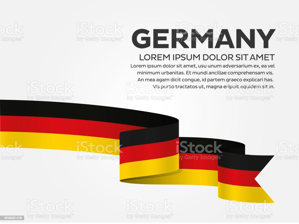 Germany flag background vector art illustration