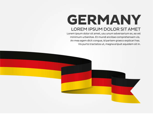 ilustraciones, imágenes clip art, dibujos animados e iconos de stock de fondo de bandera de alemania - bandera alemana
