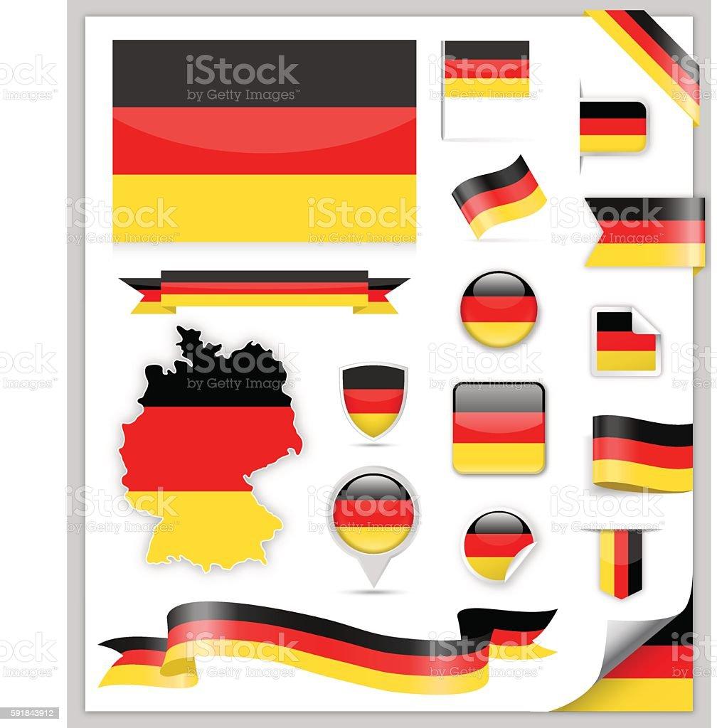 Bandera de Alemania  - ilustración de arte vectorial