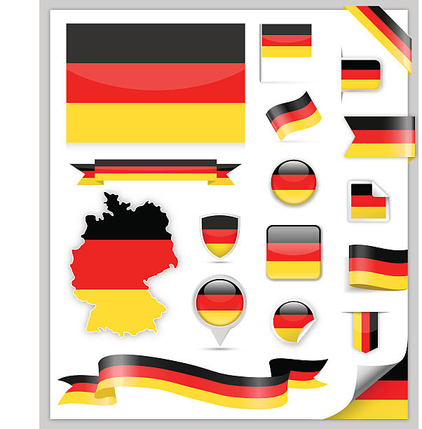 Germany Flag Collection vector art illustration