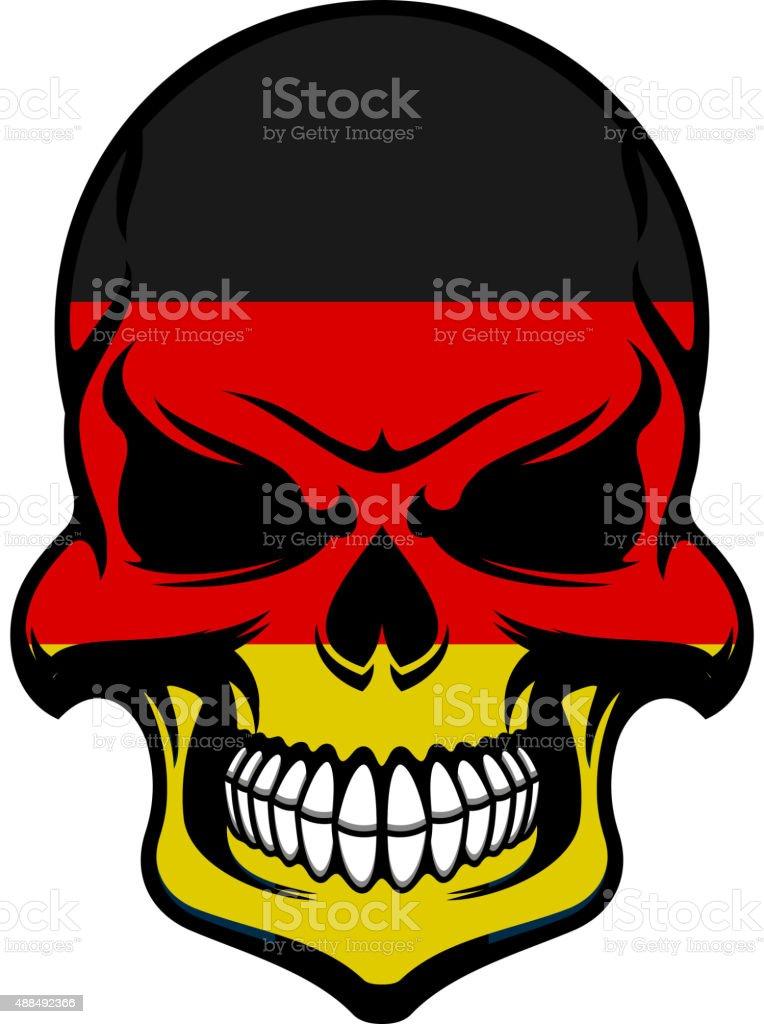 2fe9052da8 Alemanha cores da bandeira em perigo caveira ilustração de alemanha cores  da bandeira em perigo caveira