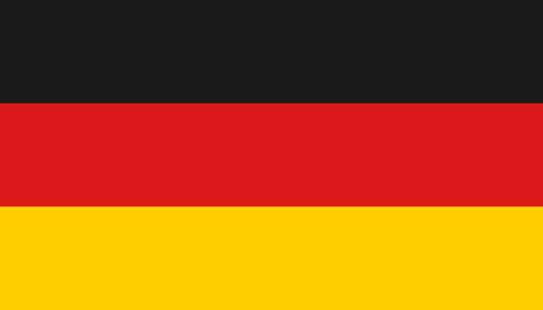 フラットスタイルのドイツ国旗アイコン。ナショナルサインベクターイラスト。政治ビジネスコンセプト - ドイツの国旗点のイラスト素材/クリップアート素材/マンガ素材/アイコン素材