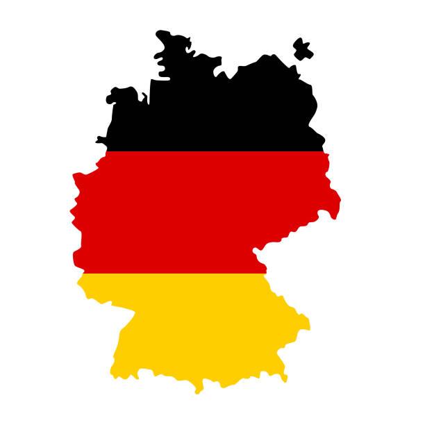 ドイツフラグマップ - ドイツの国旗点のイラスト素材/クリップアート素材/マンガ素材/アイコン素材