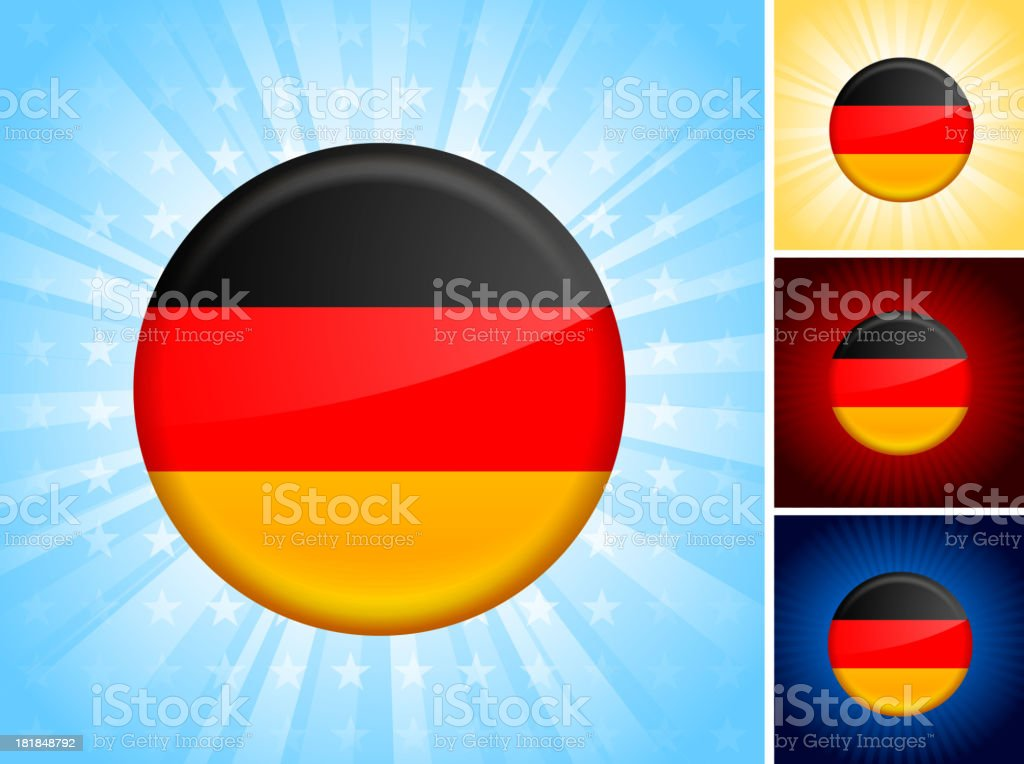 Germany Flag royalty free vector art Button Set royalty-free germany flag royalty free vector art button set stock vector art & more images of badge