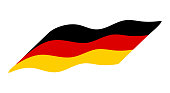 germany flag simple wave  vector design isolated on white background