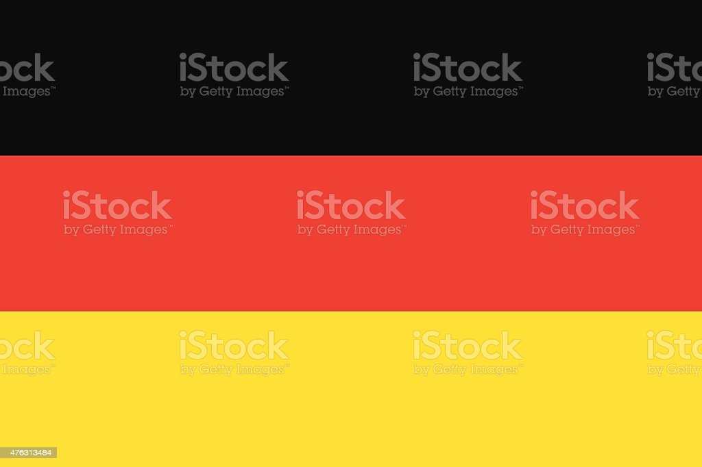 Deutschland-Flagge – Vektorgrafik