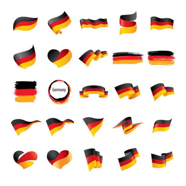 flaga niemiec, ilustracja wektorowa - niemcy stock illustrations